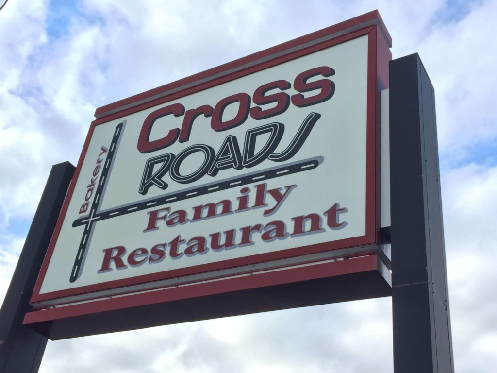 crossroads family restaurant sign